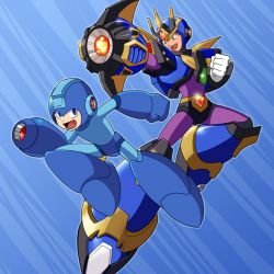 Mega Man and Ultimate Armor X - Rockman X DiVE Collaboration